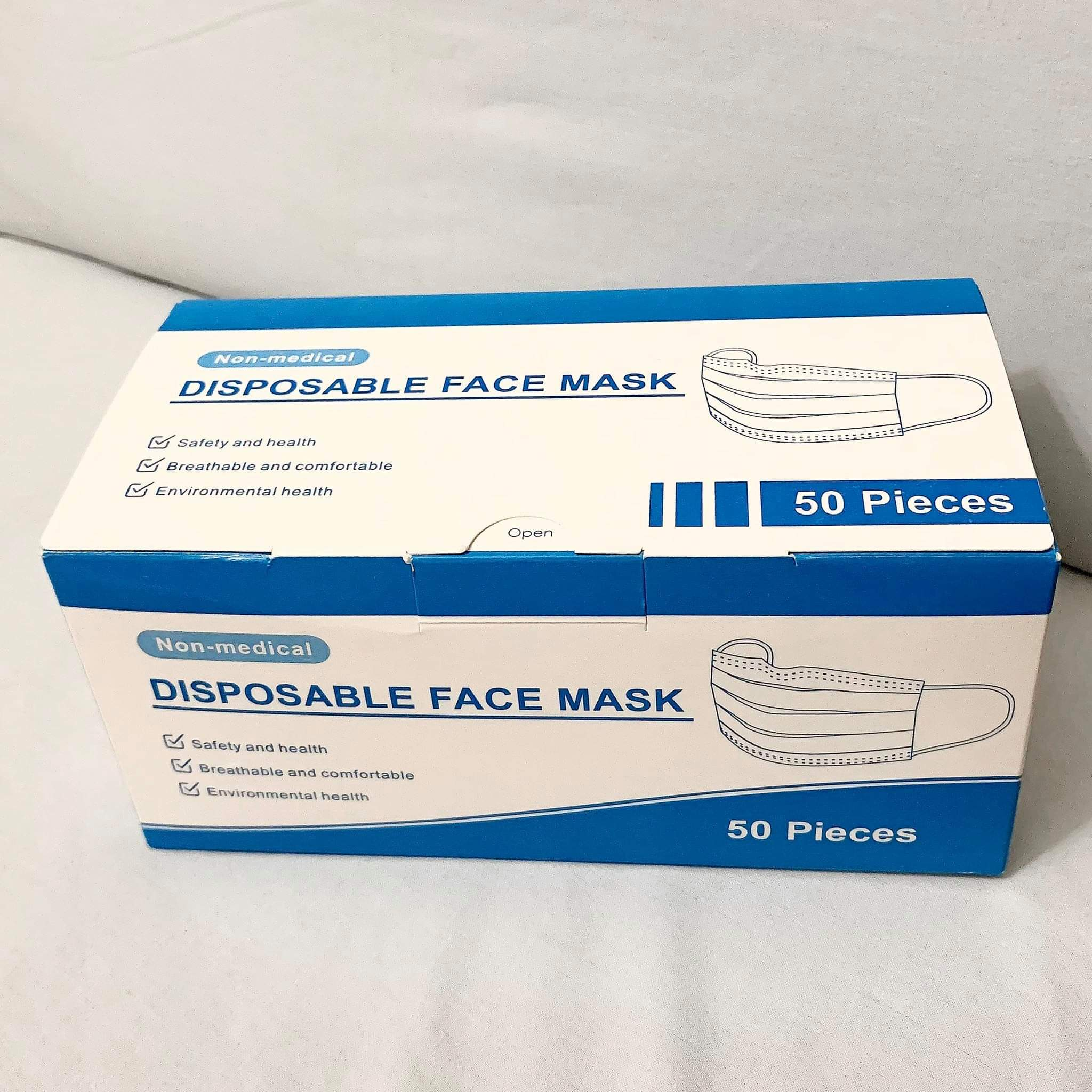 Disposable Medical Grade 3 Ply Mask 50'S