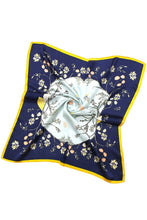 Load image into Gallery viewer, Silky Square Bandana - Floral Seashell, 2 colors