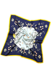Silky Square Bandana - Floral Seashell, 2 colors
