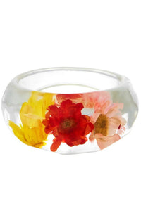 Leilani Acrylic Flower Rings - 5 colors