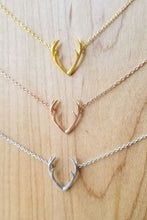 Load image into Gallery viewer, Dainty Antler Necklace