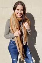 Load image into Gallery viewer, Plush Camel Stripe Scarf