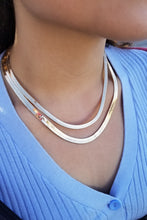 Load image into Gallery viewer, Dominique Slender Herringbone Necklace