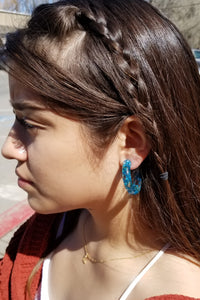 Leilani Acrylic Flower Hoops - 4 colors