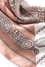 Load image into Gallery viewer, Silky Square Bandana - Two-Tone Paisley