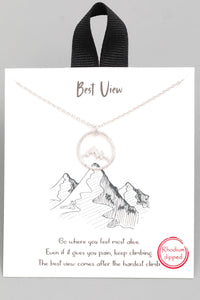"""Best View"" Mountain Necklace"