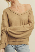 Load image into Gallery viewer, Slouchy V-Neck Sweater - Camel