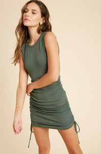 Rachel Mini Dress - Teal Green