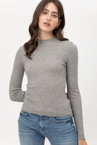 Ribbed Knit Mock Neck Top - 7 colors
