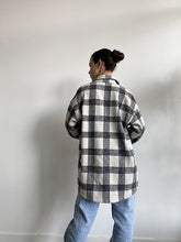 Load image into Gallery viewer, Plaid Shirt Jacket - Ivory/Black