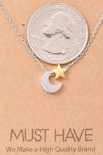 Load image into Gallery viewer, Moon & Star Necklace