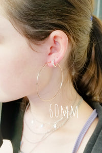 Seamless Hoop Earrings-Rose Gold