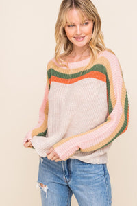 Vintage Stripe Knit Sweater