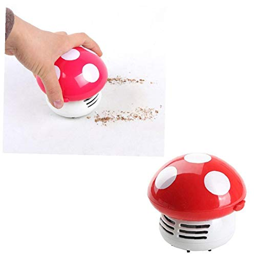 1 Pack Novelty Mushroom Vacuum Cleaner Cute Mini Dust Sweeper Practical Corner Vaccum Cleaner Random Color