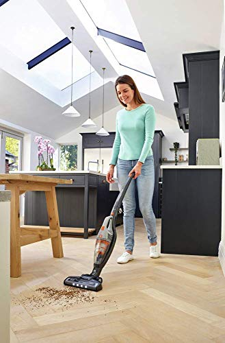 BLACK+DECKER POWERSERIES Cordless Stick Vacuum & Hand Vac, 2-in-1, Titanium Gray (HSVB420J)