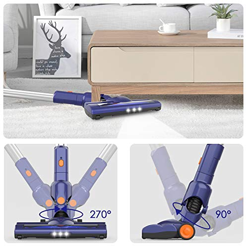 ORFELD Cordless Vacuum, 18000pa Stick Vacuum 4 in 1,Up to 50 Minutes Autonomy, with Dual Digital Motor for Deep Clean Whole House