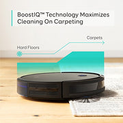 eufy Anker, BoostIQ RoboVac 11S (Slim), Super-Thin 1300Pa Strong Suction, Quiet, Self-Charging Robotic Vacuum Cleaner, Cleans Hard Floors to Medium-Pile Carpets, Black