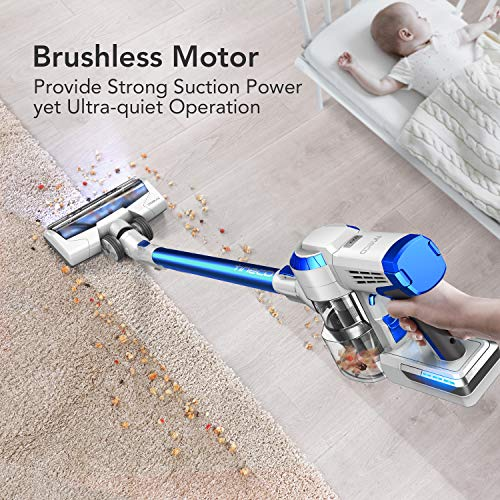 Tineco A10 Hero Cordless Stick Vacuum Cleaner, Powerful Suction, Multi-Surface Cleaning, Great for Pet Hair, Space Blue