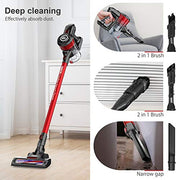 Cordless Vacuum Cleaner 12KPa Powerful Suction 150W Motor 2 in 1 Stick Handheld Vacuum for Home Hard Floor Carpet Car Pet