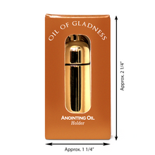Load image into Gallery viewer, Oil of Gladness Anointing Oil<br> Gift Boxed Oil Holder, Goldtone