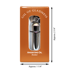 Load image into Gallery viewer, Oil of Gladness Anointing Oil<br> Gift Boxed Oil Holder, Silvertone