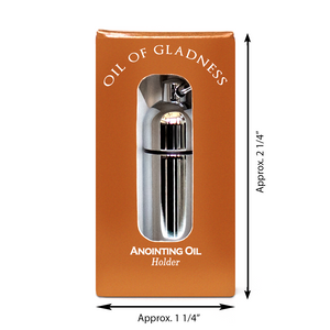 Oil of Gladness Anointing Oil<br> Gift Boxed Oil Holder, Silvertone