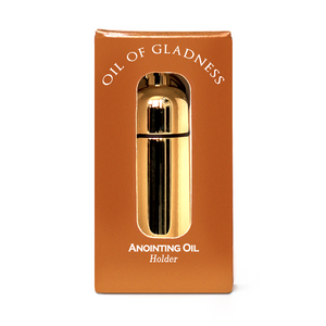 Oil of Gladness Anointing Oil<br> Gift Boxed Oil Holder, Goldtone