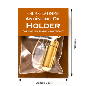 Oil of Gladness Anointing Oil<br> Value Packaged Oil Holder, Goldtone
