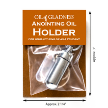 Cargar imagen en el visor de la galería, Oil of Gladness Anointing Oil<br> Value Packaged Oil Holder, Silvertone