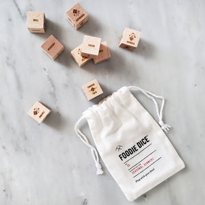 Foodie Dice - Foodie Gift for her, kitchen gift, cooking gift, or stocking stuffer