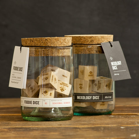 Foodie & Mixology Dice Tumbler Gift Set