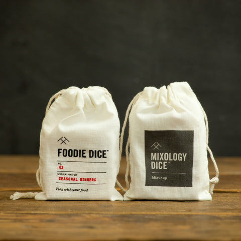 Foodie Dice & Mixology Dice Pouch Gift Set