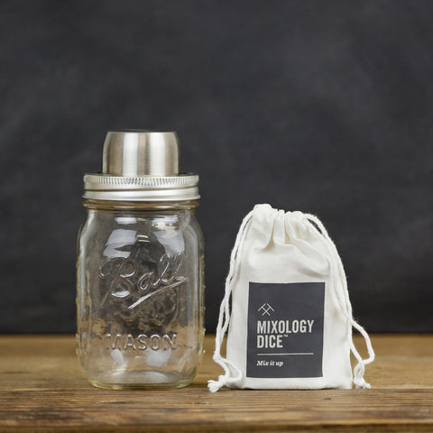 Mixology Dice + W&P Mason Shakerette Gift Set