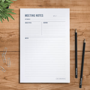 Meeting Notes Notepad