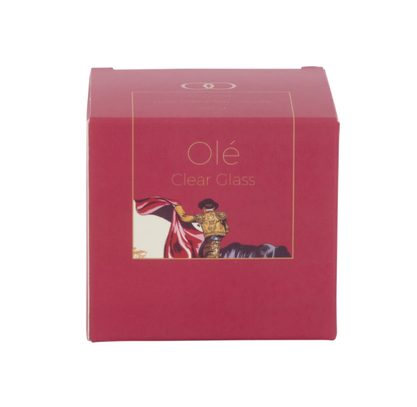 OLE Soy Candle - Clear Glass