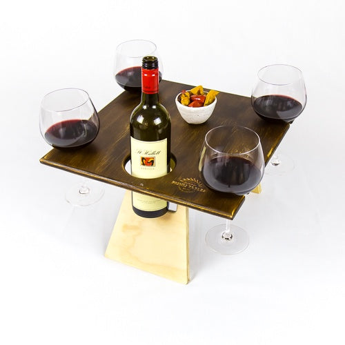 Square Folding Picnic Table - Chocolate Two Tone