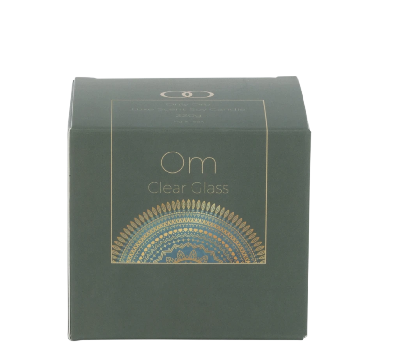 OM Soy Candle - Clear Glass