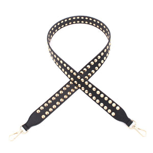 Bagstrap - Black/Gold Stud