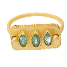 Load image into Gallery viewer, Faceted Apatite Ring