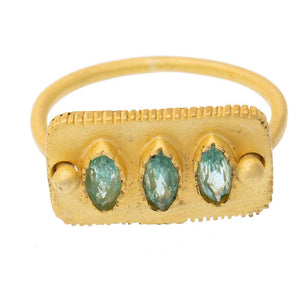Faceted Apatite Ring