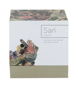 SARI & Moss Green Ceramic Orb