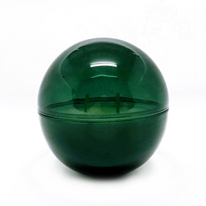Emerald Glass Orb + OM Candle