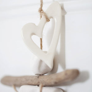 Handmade Clay & Driftwood Drop