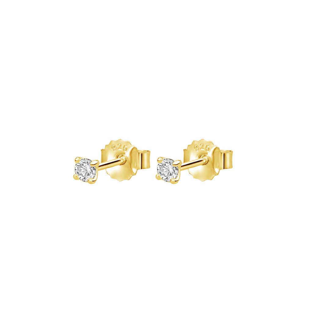 3mm White Topaz Studs