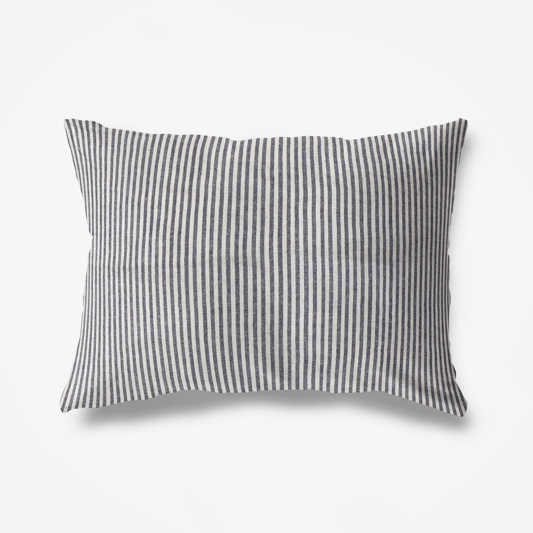 St Barth Striped Pillowslip -Soft Charcoal