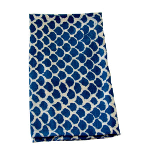 Indigo Fish Scales Napkins Set/4