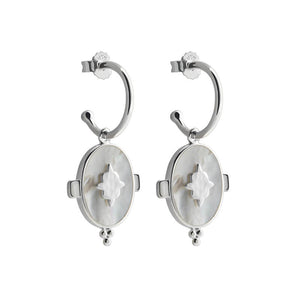 Oval Mother of Pearl Earrings