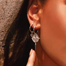Load image into Gallery viewer, Sahara Small Hoops with Dagger Earrings