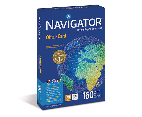 NAVIGATOR OFFICE CARD 160G A4 /250 [5PKT/Erä]