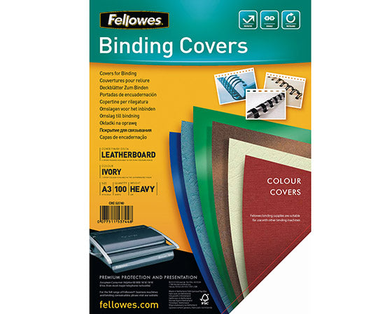 FELLOWES DELTA COVER A3 IVORY /100